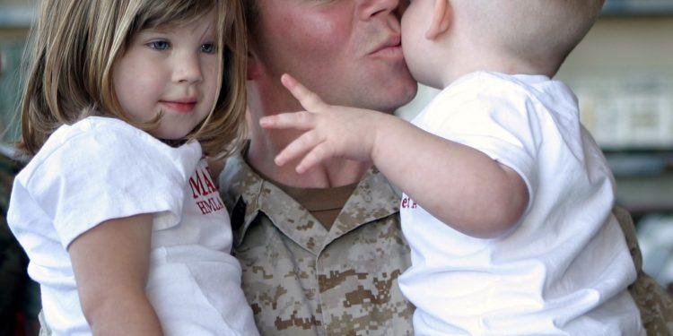 military child custody divorce