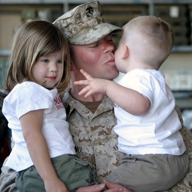 military child custody divorce
